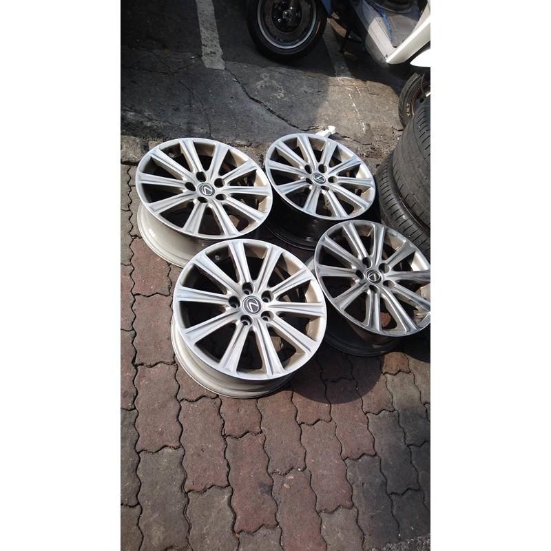 高雄人人輪胎 中古鋁圈 Lexus nx200 17吋 原廠鋁圈 5孔114.3 一組四顆 不含輪胎 一顆邊緣有傷如圖2
