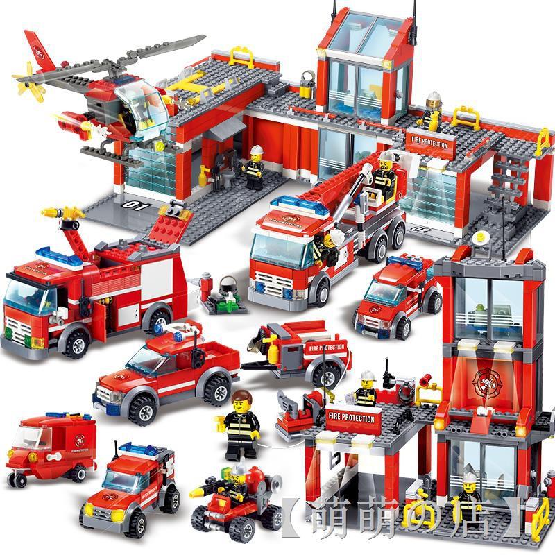 ♂♘✲樂高城市系列全套警察局警系局房子別墅積木男孩子拼裝益智力玩具