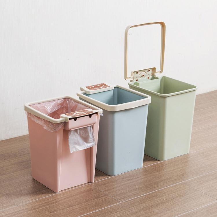 特價直售 壓圈方形垃圾桶廚房無蓋垃圾簍創意家用客廳臥室塑料小紙簍【中秋節預熱】【優派3C】