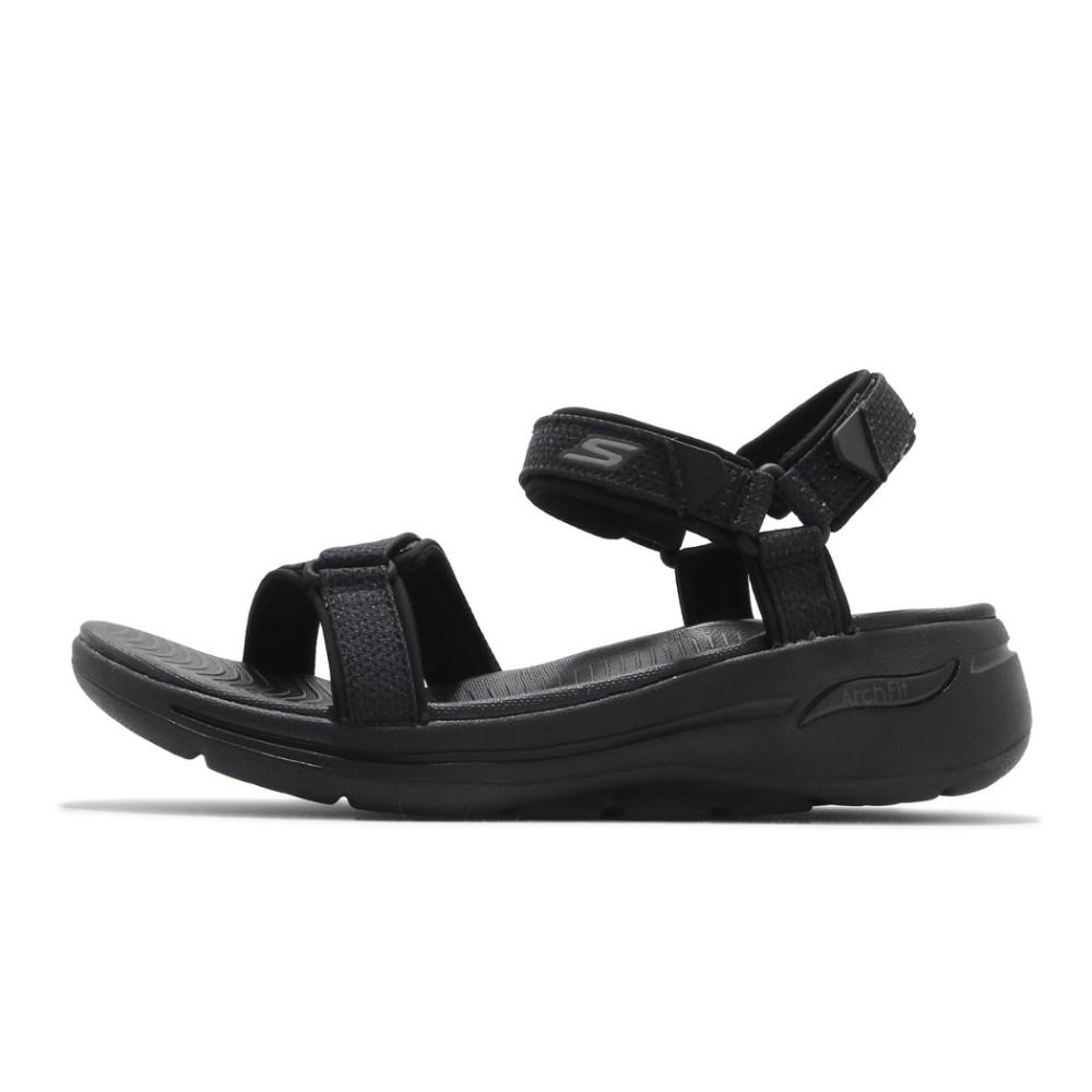 *賓工廠*SKECHERS GO WALK ARCH FIT SANDAL 涼鞋 全黑 涼鞋 黏帶 女版140251BB