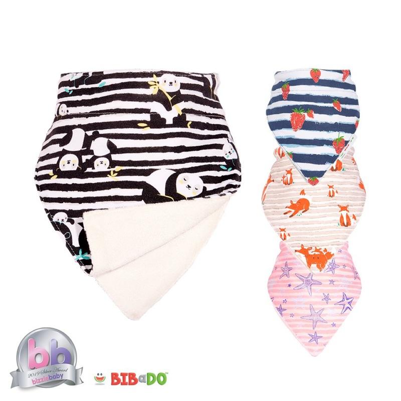 英國 BIBaDO 雙層竹纖維口水巾/圍兜兜/領巾