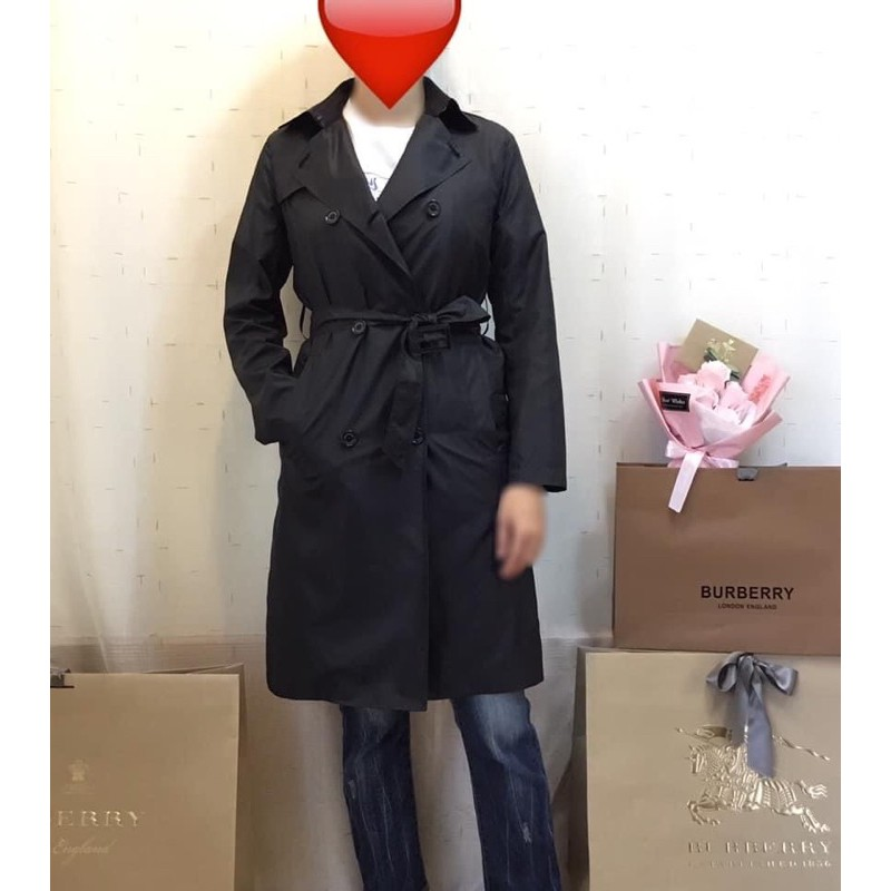 MACKINTOSH黑色雙排釦輕盈風衣