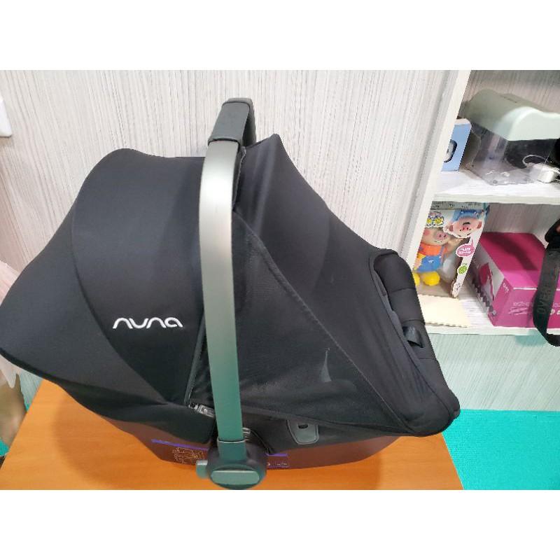 二手Nuna PIPA lite lx超輕量(黑色) 提籃式汽車安全座椅+ isofix底座