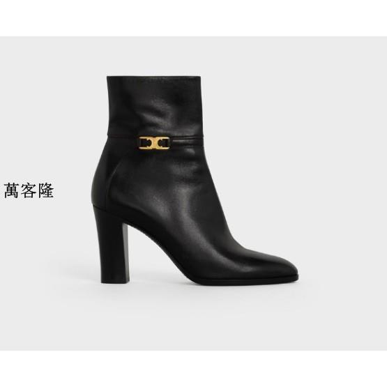 萬客隆Celine Cloud Trio 踝靴 黑色 厚底鞋