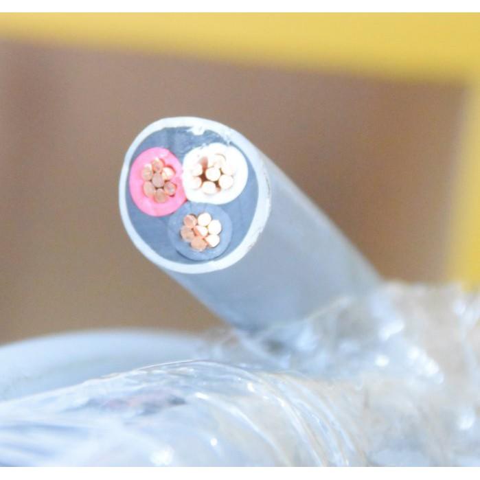 PVC 絕緣及被覆電纜線 8mm平方 3芯  8mm*3C 8mm²*3C 20M 灰 披覆電纜 電纜線 零售20米一捲