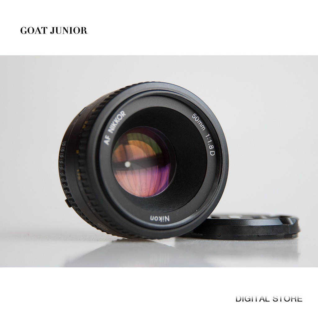 Nikon尼康AF 50mm f1.8D全畫幅大光圈人像定焦鏡頭小痰盂狗頭二手