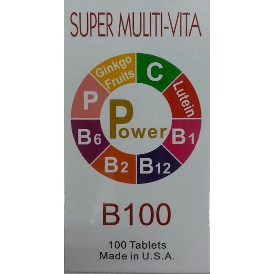 比活力 B100 B群 高單位維生素B群 葉黃素 100粒