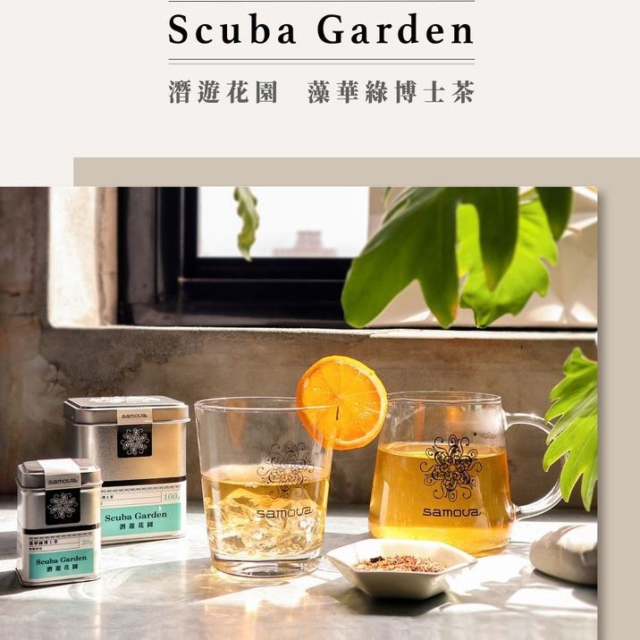 samova 藻華綠博士茶(潛遊花園) 大鐵罐 茶罐 [樂米LaMeet]