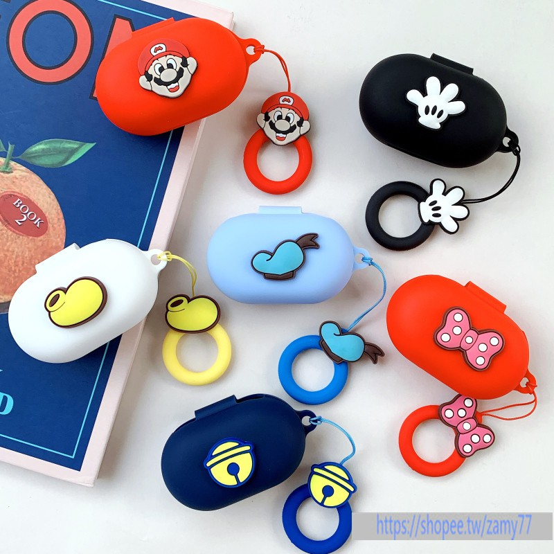 OPPO Enco W11真無線藍牙耳機盒保護套 OPPOEncoW11耳機保護殼矽膠軟殼創意卡通米奇手套