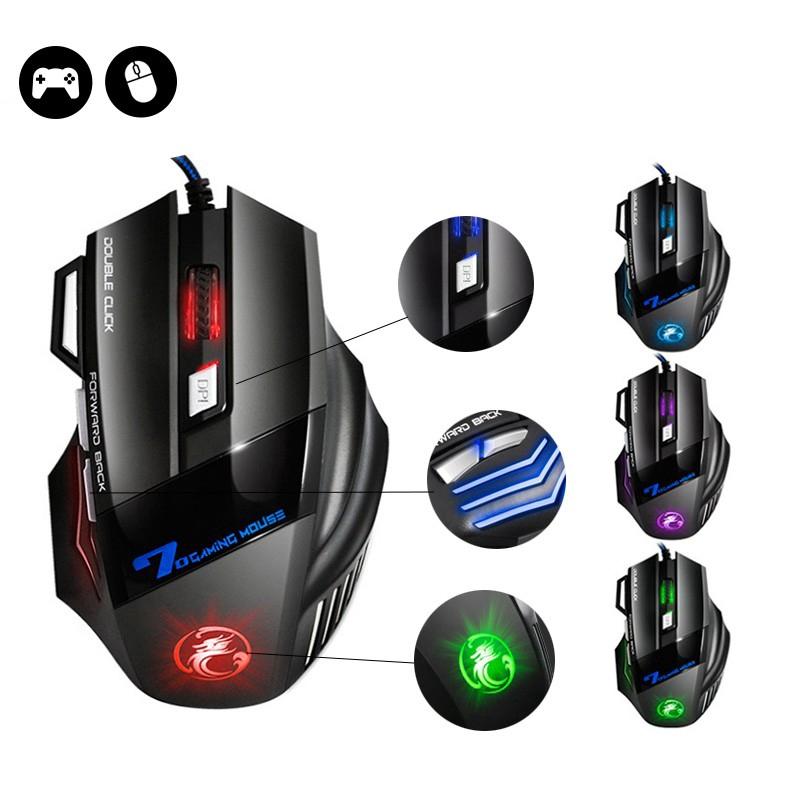 競技滑鼠 X7電競滑鼠 炫彩呼吸燈光 7按鍵 競技必備 有線滑鼠 DPI調整 電腦滑鼠 光學滑鼠 滑鼠