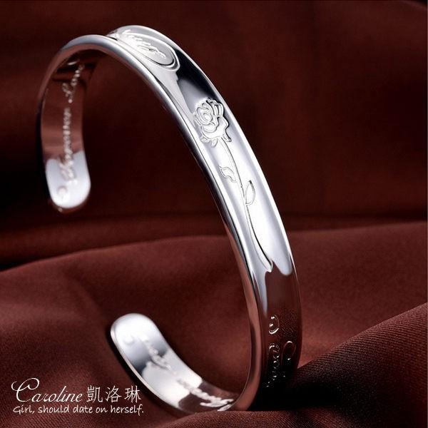 Caroline百搭之王925銀手環.典雅設計優雅時尚品味流行時尚手環67610
