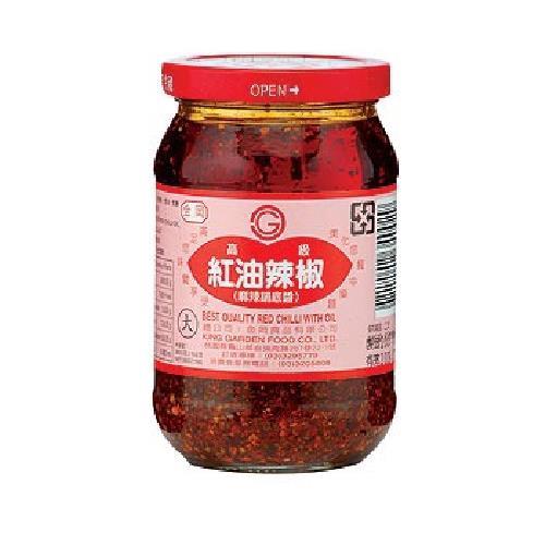 金岡 紅油辣椒(380公克/瓶)[大買家]