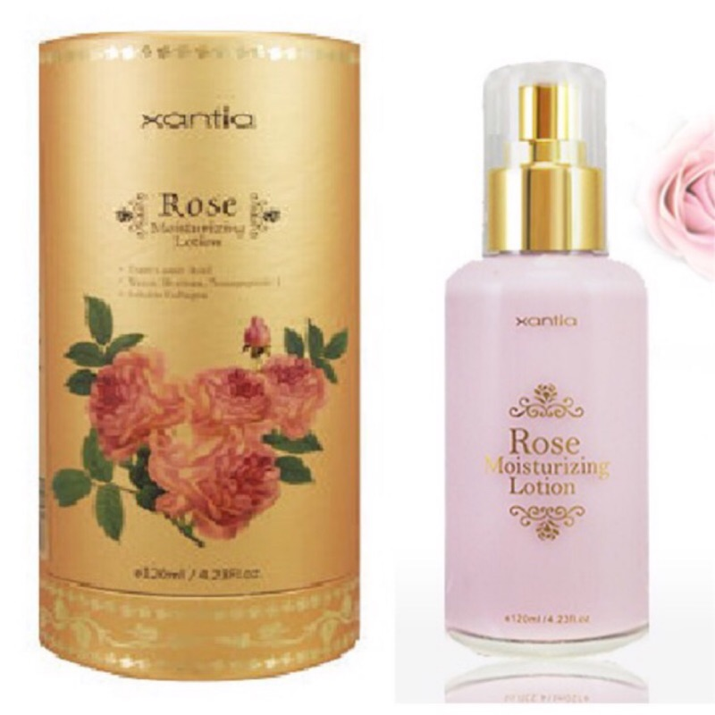 🎉給肌膚營養不給肌膚負擔🌟xantia桑緹亞💥含金箔的玫瑰乳液💥晶透活顏緊緻玫瑰精質乳-金燦限定版
