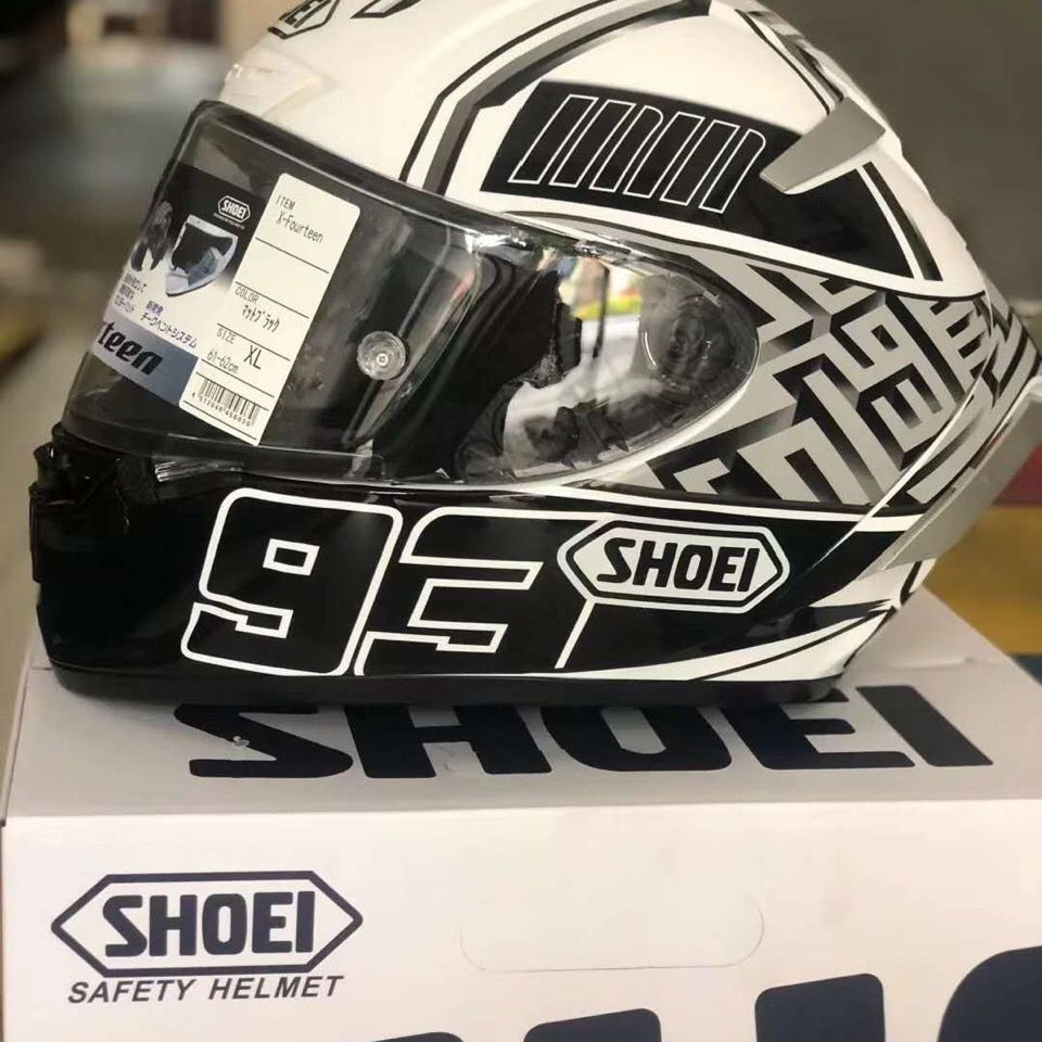 【新品爆款】SHOEI X14 白螞蟻頭盔騎行摩托車四季頭盔頂配版