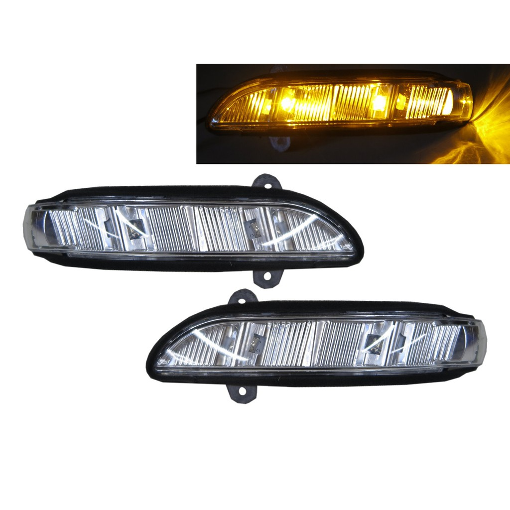 適用於賓士W211 W221 W219 2007-2010 後視鏡 後照鏡方向燈條