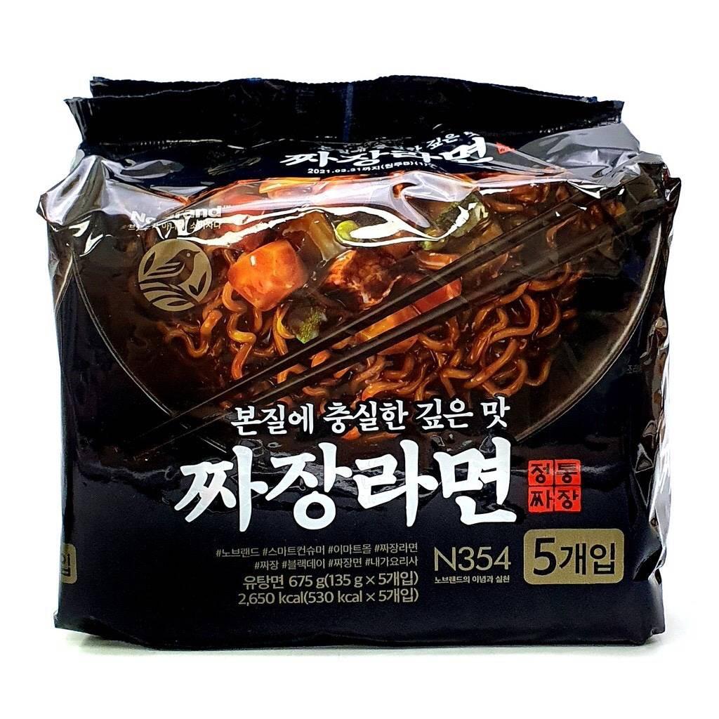 【韓國直送】🇰🇷韓國No brand 冠軍炸醬麵 135g*5