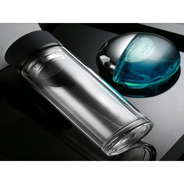 500ML 500cc 450ML 450cc 頂級 水晶玻璃 雙層 玻璃瓶 不銹鋼