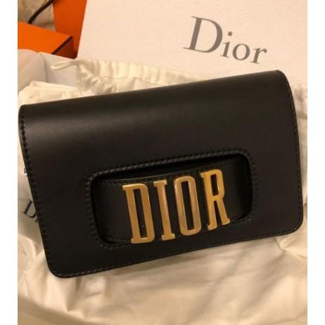 全新正品 99新 Dior MINI SAC À RABAT J'ADIOR 手拿包 黑色現貨