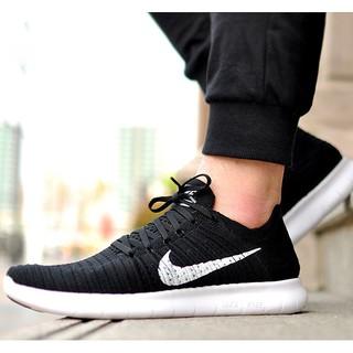 【Foot Boy】Nike Free RN Flyknit 黑白 針織 赤足 5.0 編織 男女 831069-001