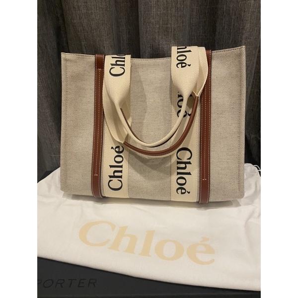 熱賣斷貨王 Chloe woody tote 托特包 帆布包 中號