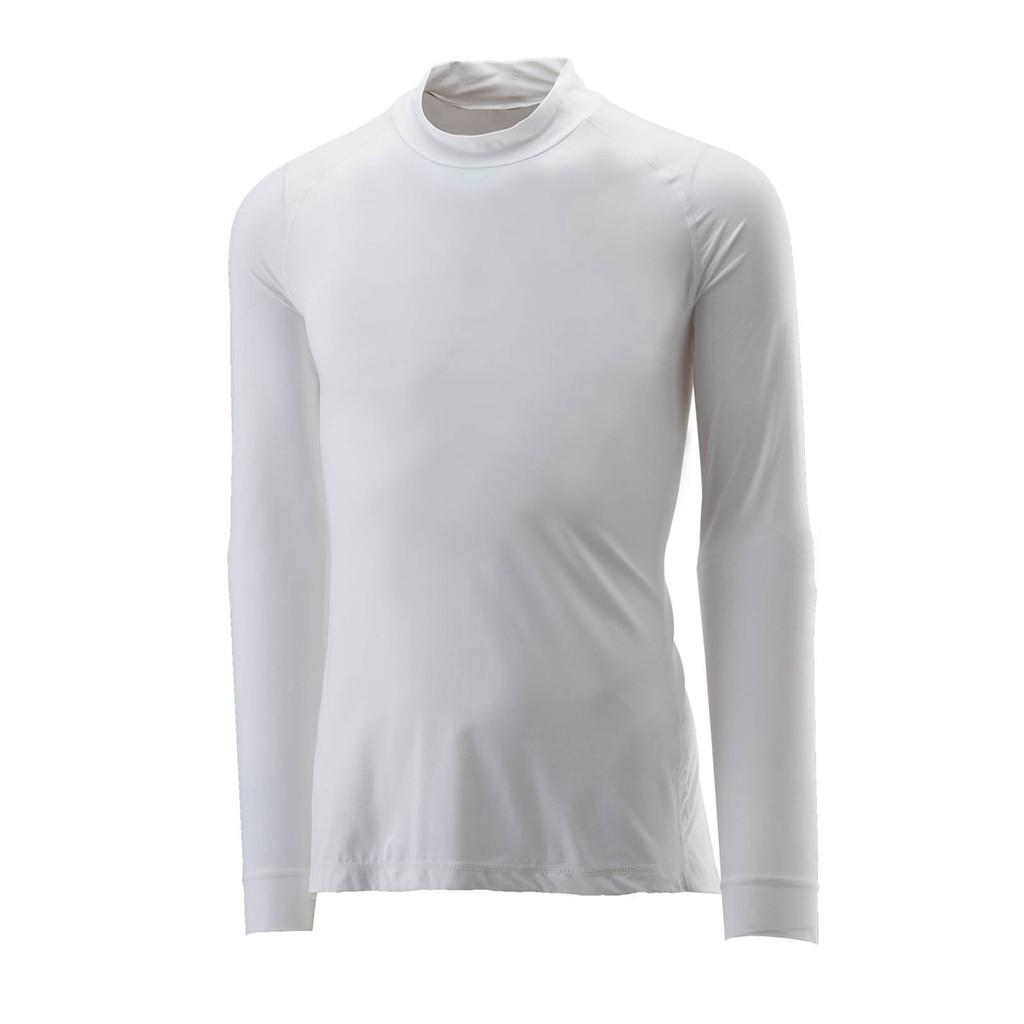 【Wildland 荒野】男透氣排汗抗UV長袖上衣 W1692-30白色 休閒服/快乾機能衣/團體服 /吸濕/野雁生活