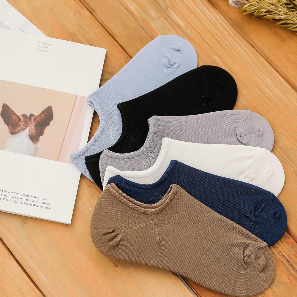 隱形襪 夏季薄款 絲光綿 淺口止滑防脫落男短襪