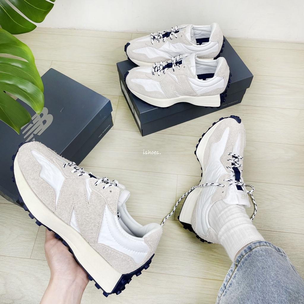 現貨 iShoes正品 New Balance 327 情侶鞋 IU 奶油底 麂皮 復古 休閒鞋 MS327RF1 D
