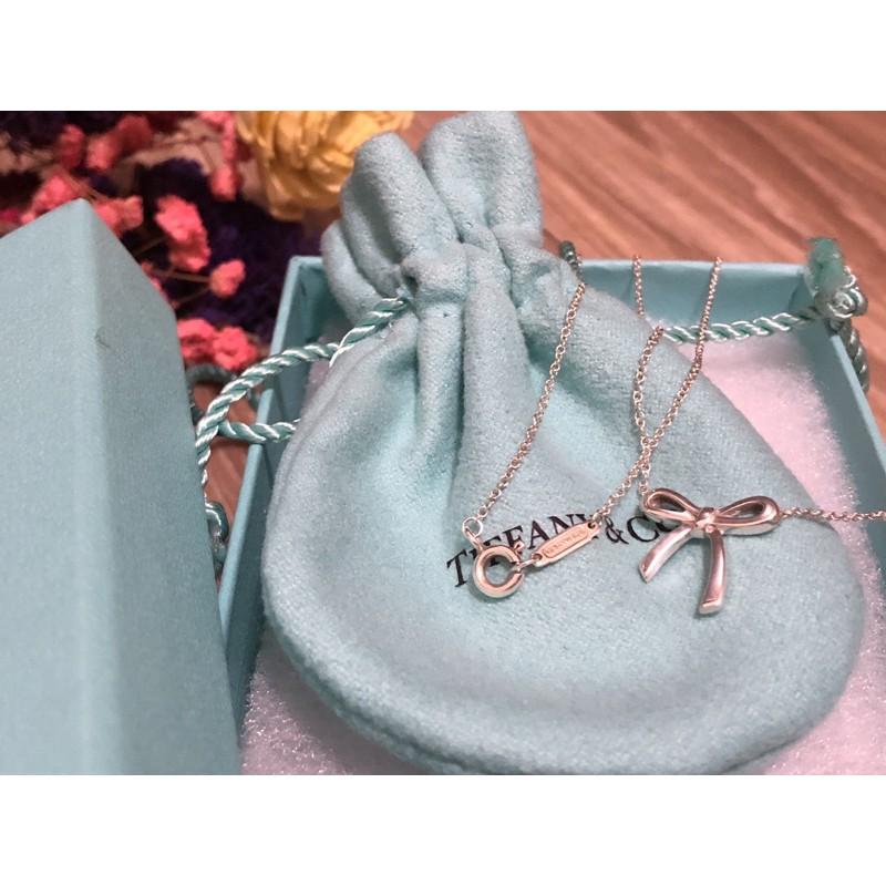 Tiffany&Co. 蝴蝶結純銀項鍊(二手正品)