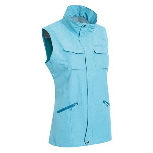 瑞多仕 DA2387 女多口袋背心(拉鍊長版款) 土耳其綠麻灰色 登山 釣魚 戶外休閒 RATOPS