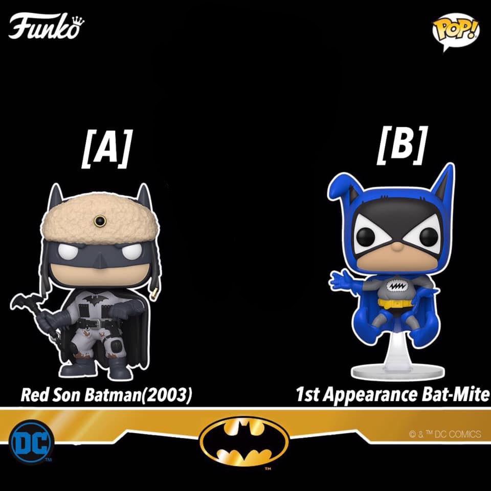 funko pop batman Red Son (2003)黑色 1st Appearance Bat-Mite 藍色