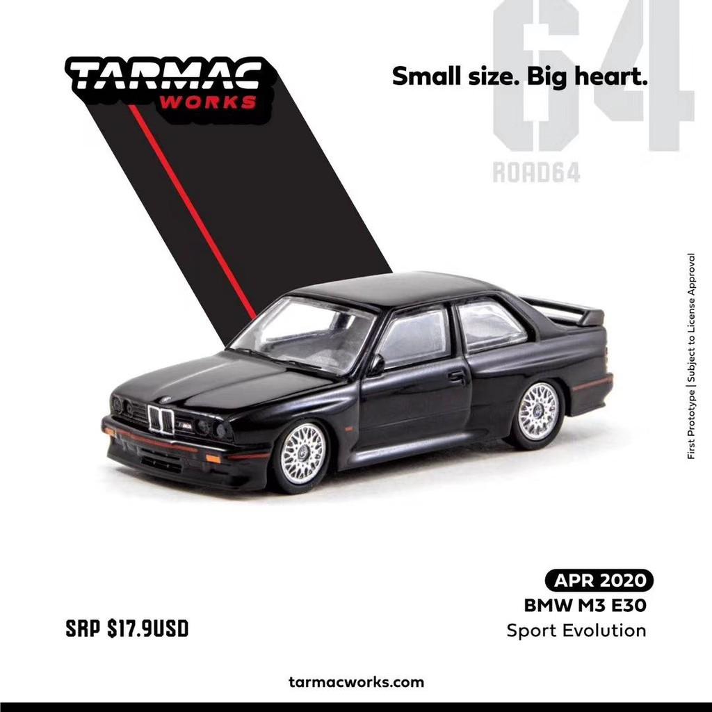 Tarmac Works1:64宝马BMW M3 E30 SPORT EVOLUTION合金汽车模型