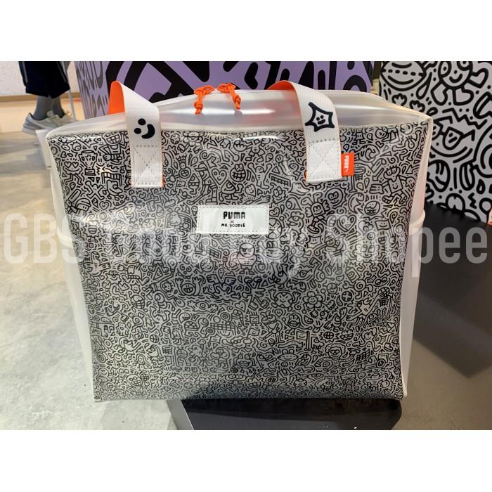 【GBS】PUMA彪馬 MR.DOODLE 聯名款 半透明手提包 077438-01 202007新品