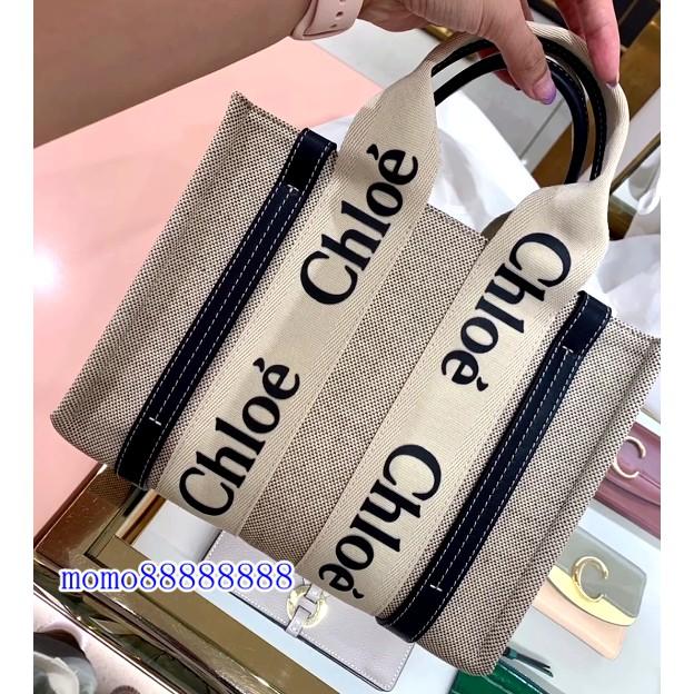 專櫃正品 Chloe Woody tote 托特包 大號 中號 小號 焦糖 黑咖色 手提包 購物袋
