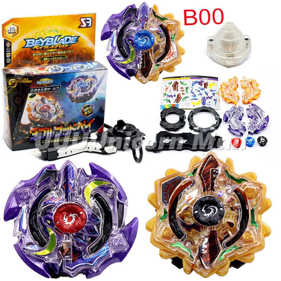 新品限定 Beyblade B00 第三代 日月陀螺 雙蝕明神合體 爆裂陀螺 自由組裝戰鬥陀螺玩具