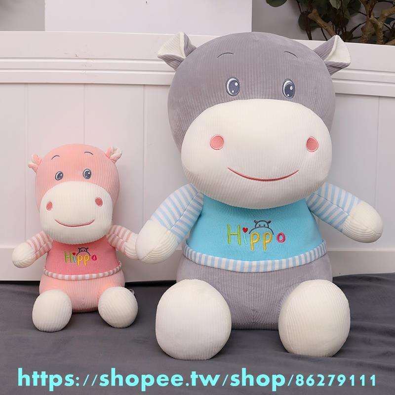 可愛小白兔公仔玩偶睡覺抱枕河馬毛絨玩具布娃娃枕頭安撫布娃娃女元旦新年 牛年吉娃娃 毛絨公仔 玩具抱枕 吉祥物