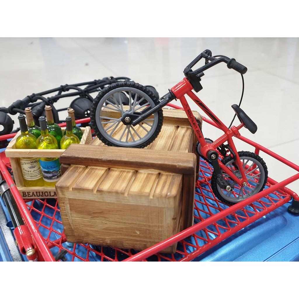 """I-RC"" 1/10 攀岩車 仿真 自行車 腳踏車 車頂架裝飾件SCX10 JEEP 牧馬人 D90 TF2 CC"