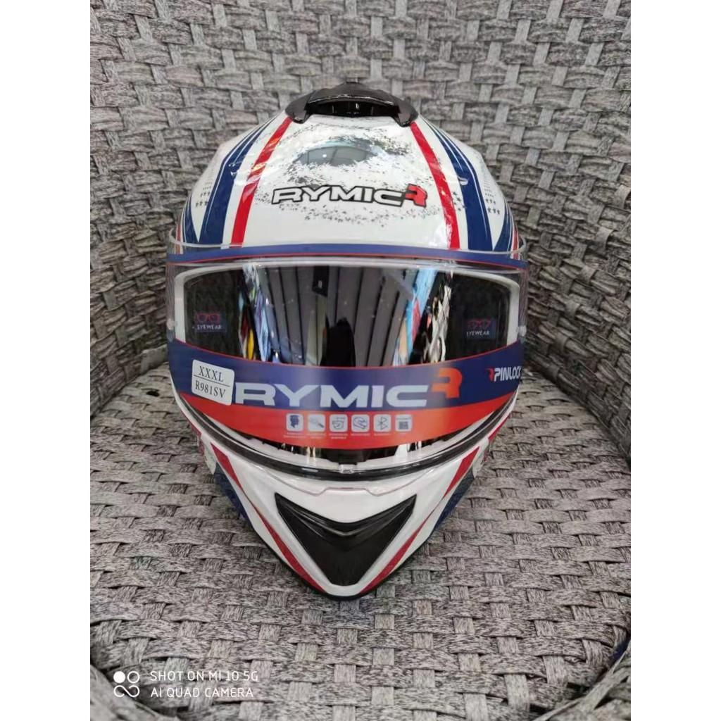 Rymic薩迦 全罩式安全帽 雙鏡片安全帽 機車 摩托車 電動車 男女四季通用安全帽