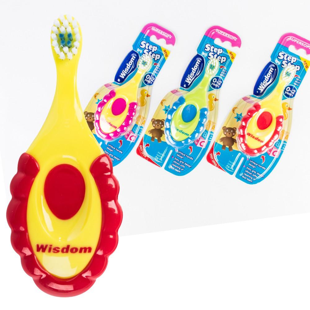 Wisdom幼童輔助牙刷 英國進口 step by step 宜家寶 兒童牙刷 學習牙刷 幼兒牙刷幼童牙刷【H007】