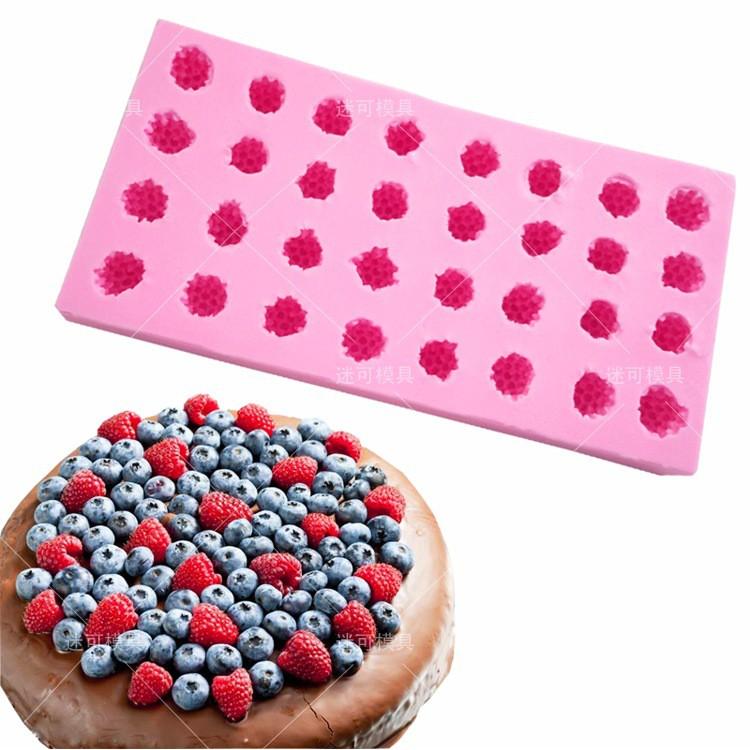 *小金龍模具館* 迷可翻糖硅膠模 樹莓桑椹子桑果蛋糕裝飾蛋糕模具 DIY滴膠烘焙工具