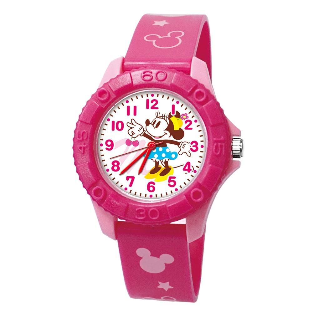 【Disney迪士尼】俏麗米妮 雙色殼兒童手錶