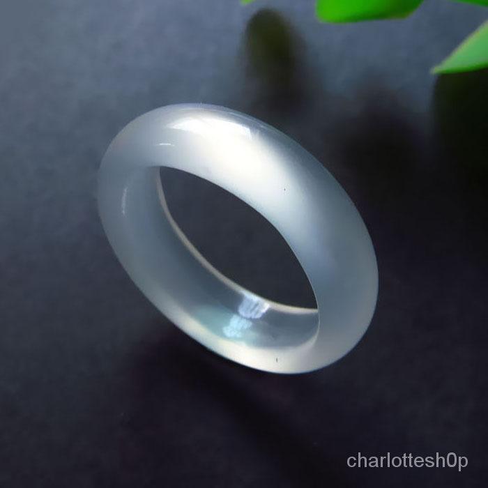 天然瑪瑙玉髓戒指紅玉髓戒子水晶白黃黑綠男女情侶款賭神指環