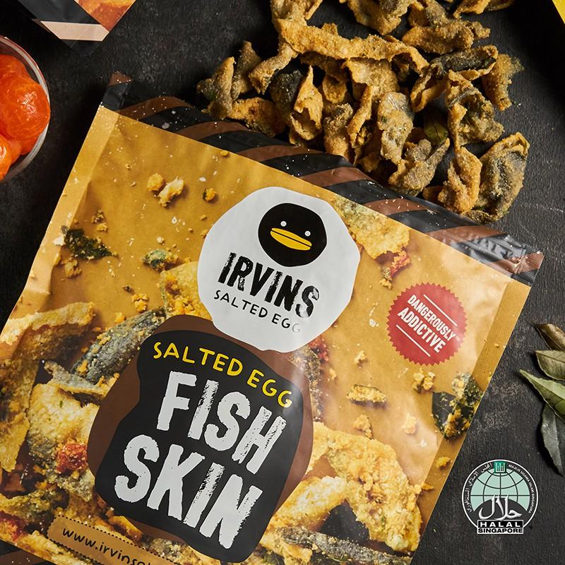 【IRVINS】 黑鴨鹹蛋黃魚皮 (小包105公克)