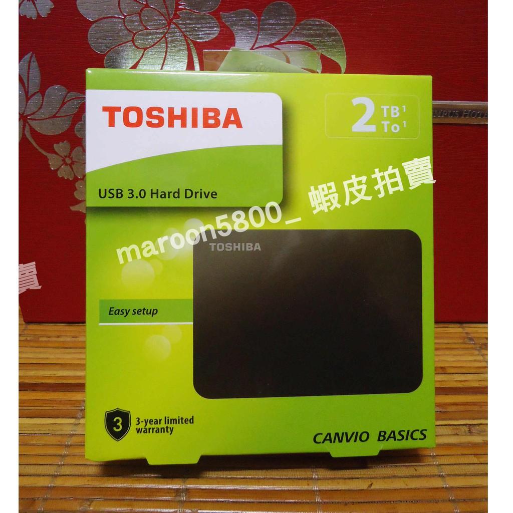 TOSHIBA 面交 3年保固 A3 黑靚潮III 2TB 容量 行動 硬碟 隨身碟 USB 3.0 2.5吋 東芝
