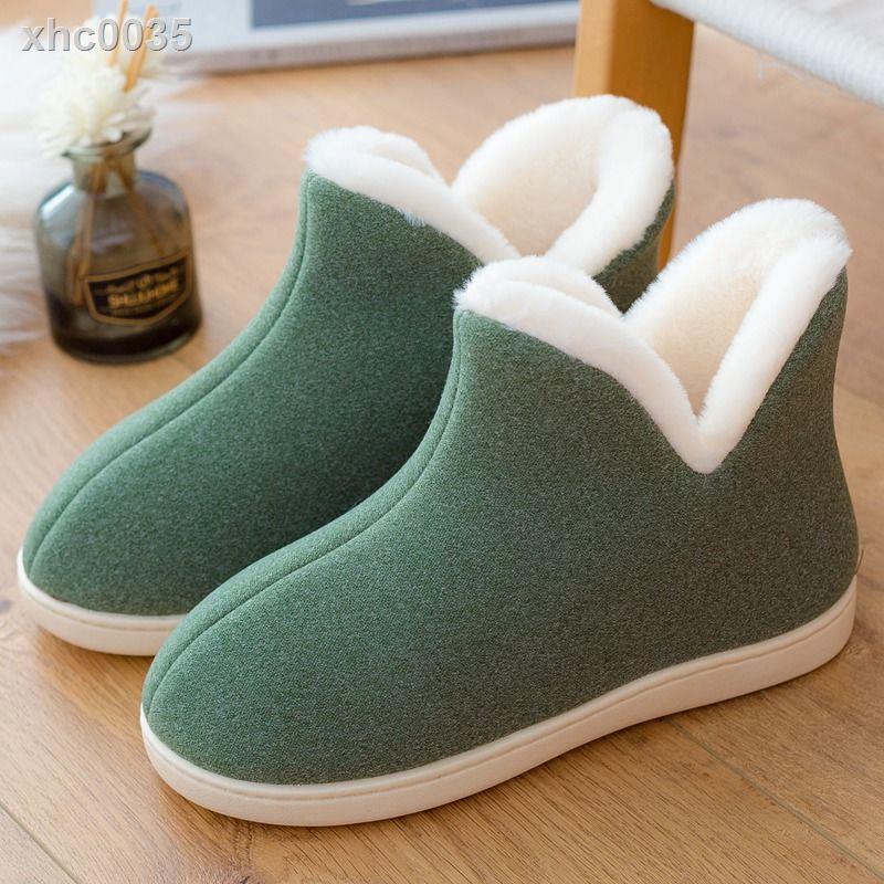【現貨】冬季棉鞋防滑情侶男女室內加厚絨里毛毛鞋包跟高幫保暖防滑棉拖鞋