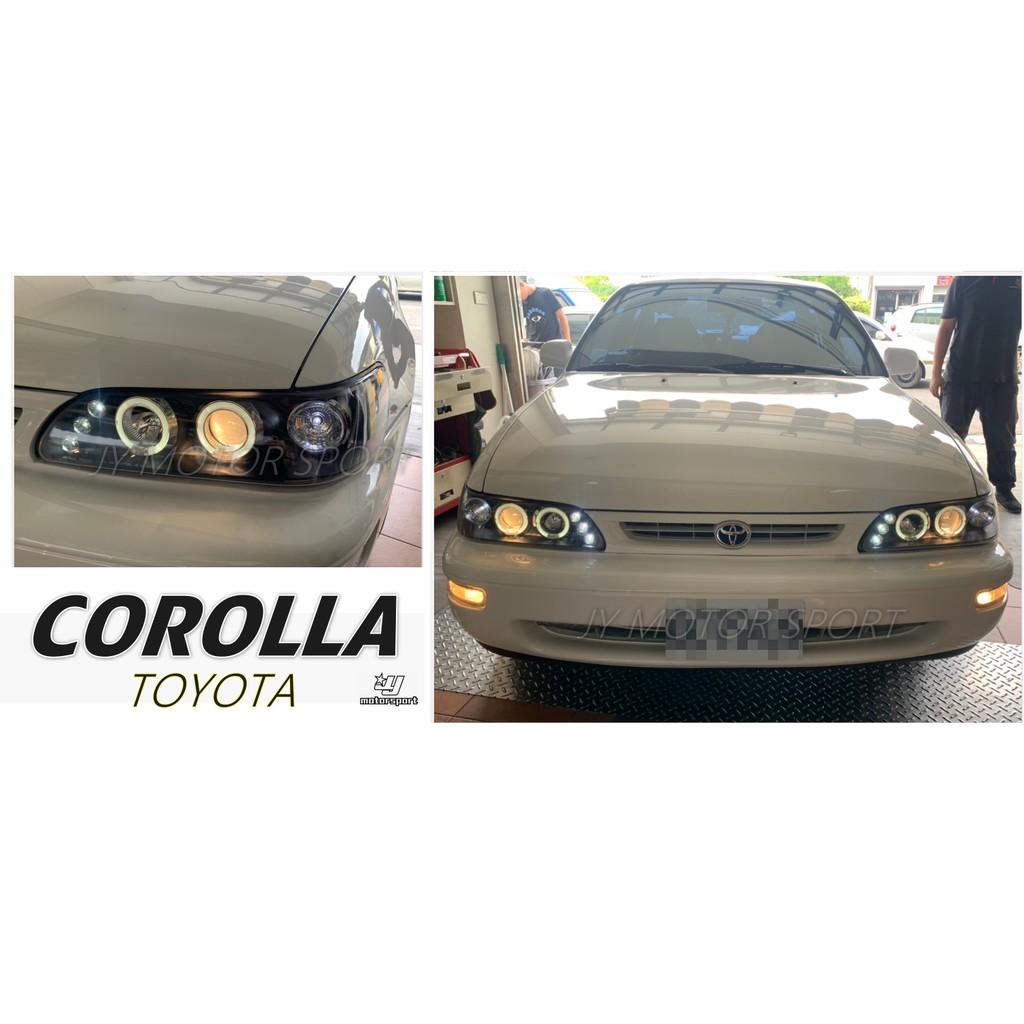 小傑車燈--全新 COROLLA 93 94 95 96 97 一体成形 燈眉版 黑框 頭燈 大燈