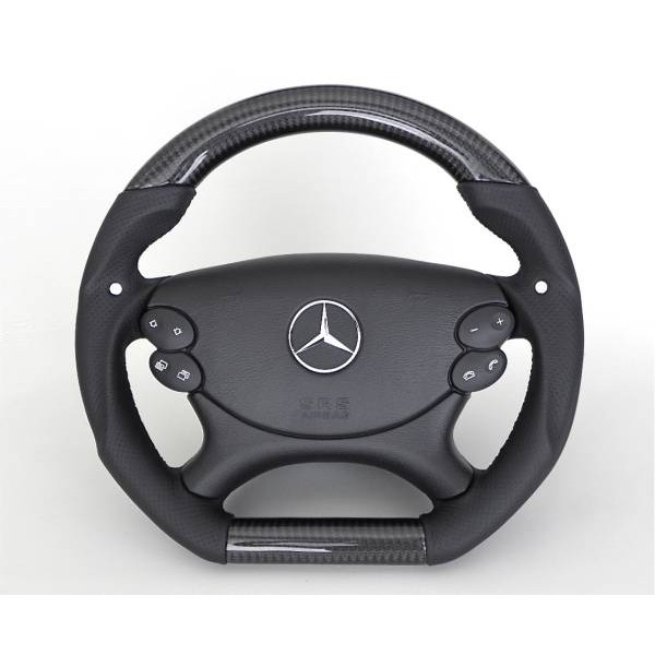 M-Benz 變形蟲卡夢式樣D型平把方向盤+安全氣囊+方控~W211 W219