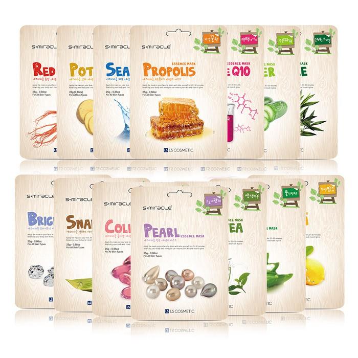【韓國 S+Miracle】 膠原蛋白精華面膜(25g/片) 共14款 公司貨 韓國熱銷品牌 現貨