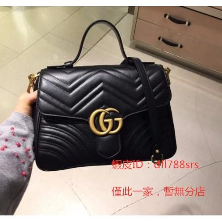 《二手》 GUCCI 498110 GG Marmont matelassé top handle bag 秋冬新款 超