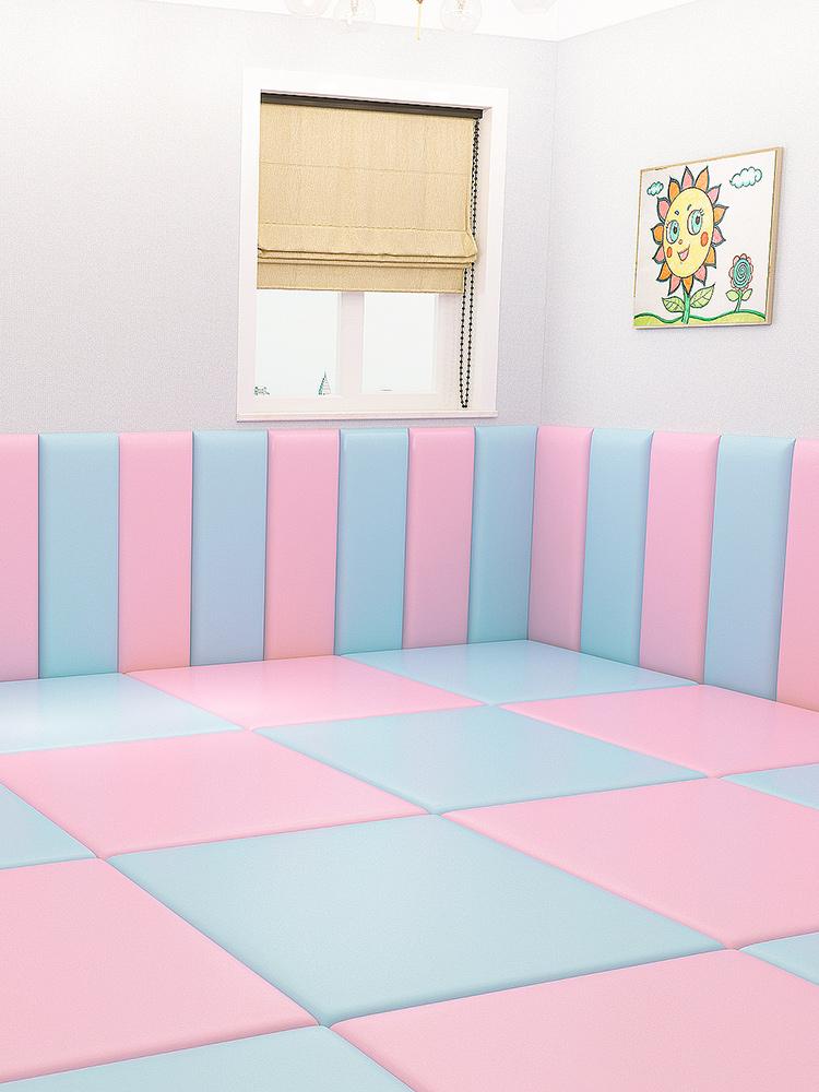 【全场九折】寶寶兒童房背景牆軟包牆防撞海綿牆貼幼兒園牆包臥室炕圍子牆軟包