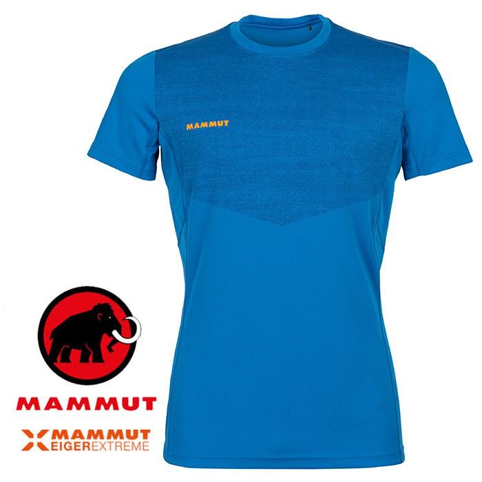 【Mammut 長毛象 瑞士】Moench 短袖排汗衣 運動上衣 機能衣 男款 冰藍色 (00050-5072)